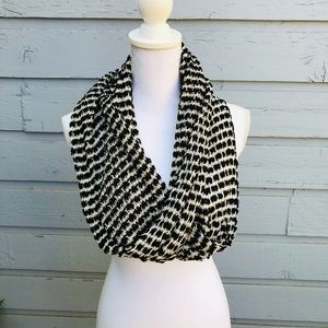 Pins & Needles Black & White Knit Infinity Scarf